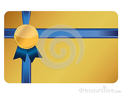 Gift card banner and ribbon