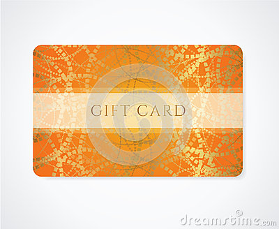 Gift card / Discount card / Business card abstract