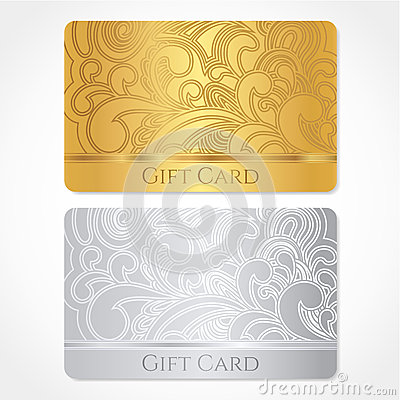 Gift card / Discount card / Business card. Pattern