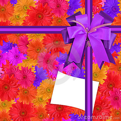 Gift-card with flowers
