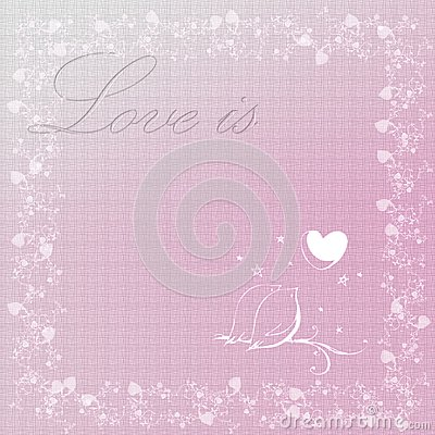 Gift card. Valentine s Day. Vector background