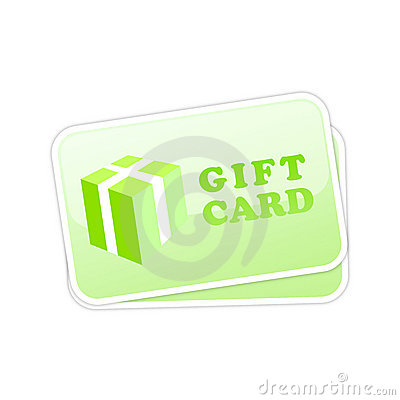 Gift card vector icon