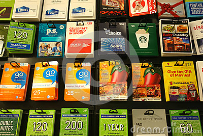 Gift Cards Editorial Image