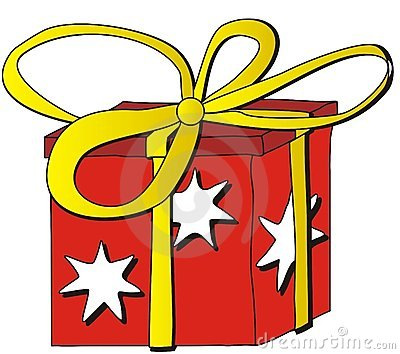 Gift Cartoon Royalty Free Stock Photos