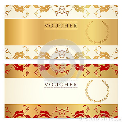 Gift certificate (Voucher, coupon) template