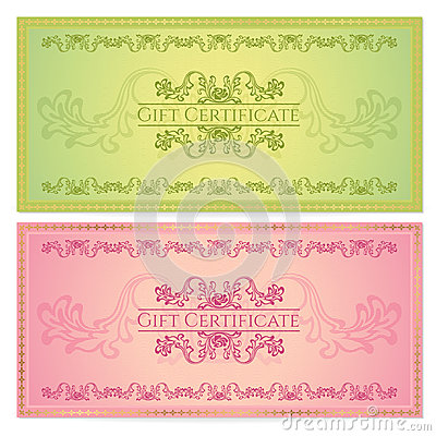 Gift certificate voucher coupon template royalty free for Cheque voucher template