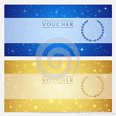 Gift Certificate, Voucher, Coupon Template. Stars Royalty ...