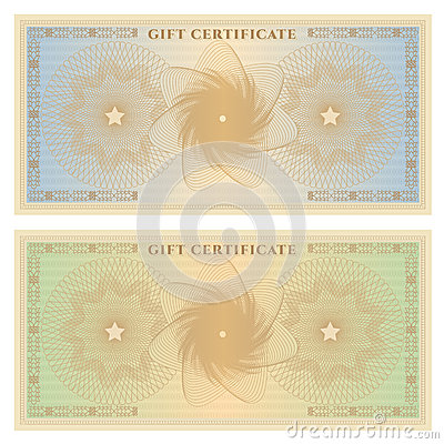 Gift certificate (voucher) template with borders