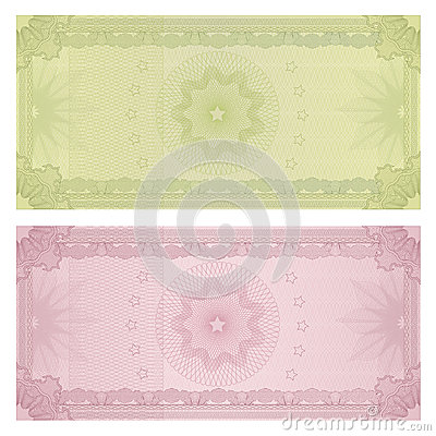 pattern free gift certificate voucher template guilloche royalty free stock photography 34469677