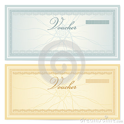Gift Certificate Voucher Template Pattern Royalty Free – Money Note Template