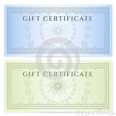 Money gift certificate template gift certificate voucher template with guilloche pattern watermarks yadclub Image collections