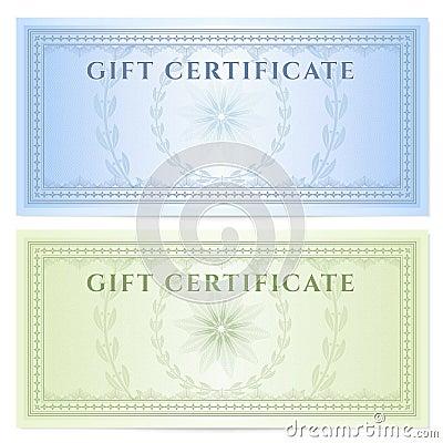 Gift Certificate Voucher Template Pattern Royalty Free – Money Voucher Template