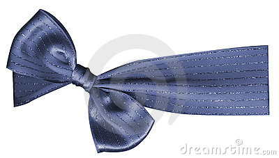 Gift color ribbon and bow isolated on white