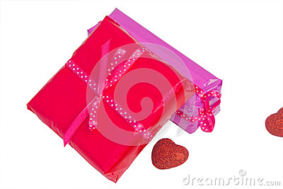 Gift concept and heart