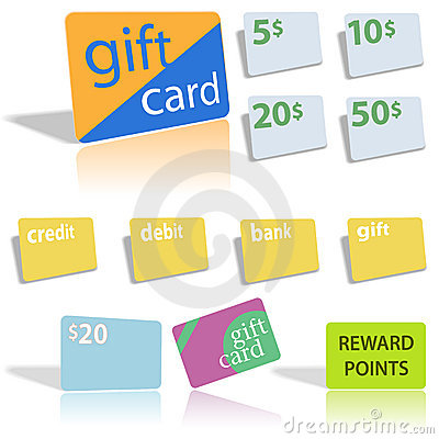 Free Gift Credit Debit Bank Cards Royalty Free Stock Image - 3515196