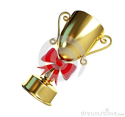 Gift gold trophy cup 3d