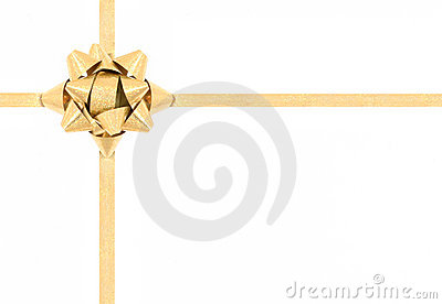 Gift golden bow