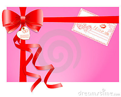 Gift with a greeting card.