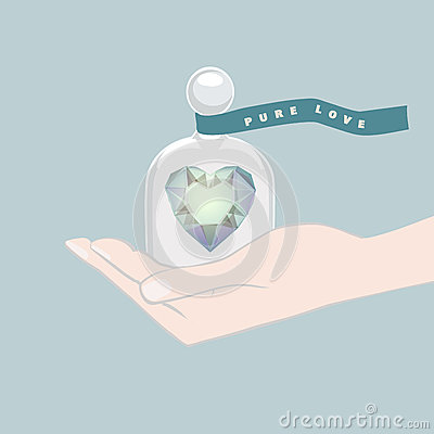 Gift of a heart symbolising Pure Love Vector Illustration