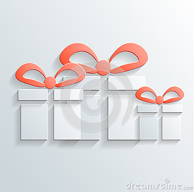 Gift icon vector with shadow