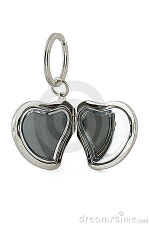 Gift keychain in heart shape