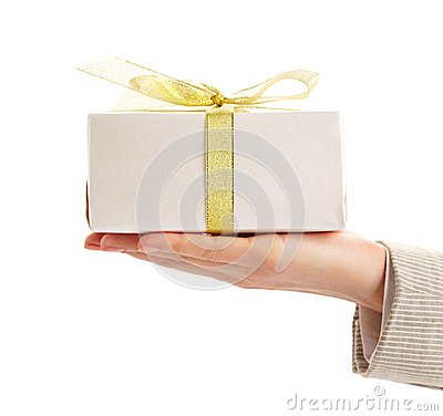 Gift on palm