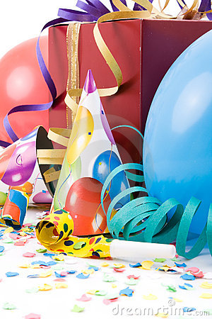 Free Gift, Party Hats, Horns Or Whistles, Royalty Free Stock Photo - 7128995