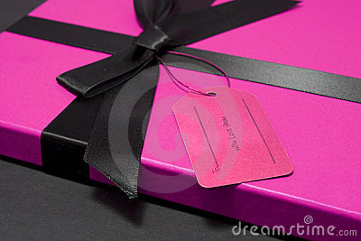Gift in a pink box
