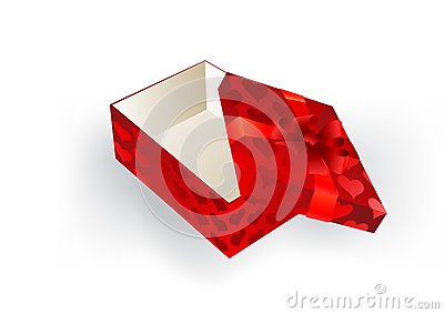 Gift red box with a bow