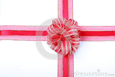 Gift Red Ribbon And Bow Stock Image - Image: 26543161