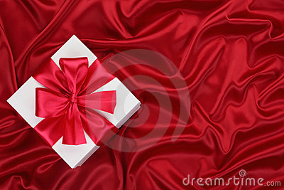 Gift on the red silk.