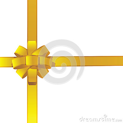 Gift ribbon golden colors