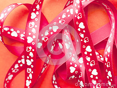 Gift ribbon with heart