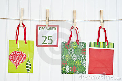 Gift Sack and Christmas Calendar Page