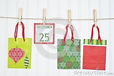 Gift Sack and Christmas Calendar Page