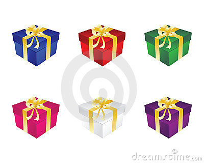 Gift six box with bow