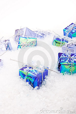 Gift with snow