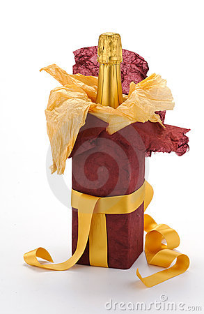 Gift sparkling wine bottle