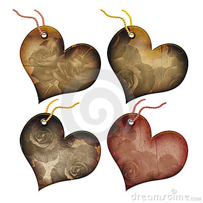 Free Gift Tags In The Form Of Heart. Royalty Free Stock Image - 5902546