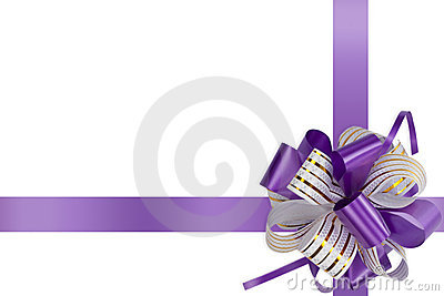 Gift violet bow