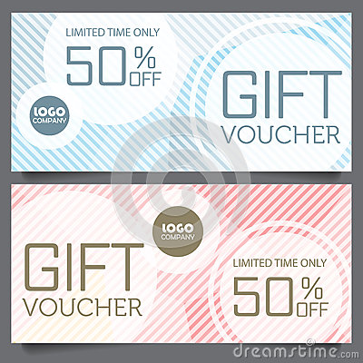 Gift voucher certificate coupon template stock vector for Shopping certificate template