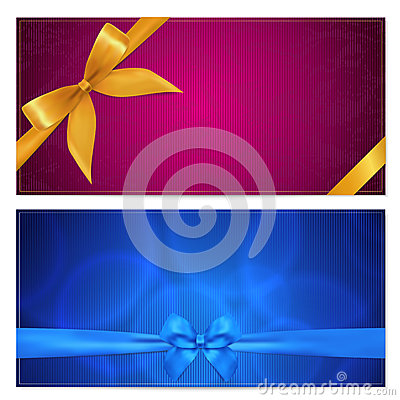 Free Gift Voucher / Coupon Template. Bow (ribbons) Royalty Free Stock Photo - 29180695