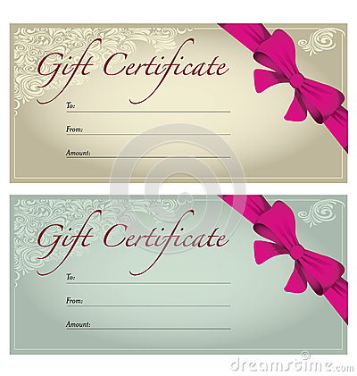 photoshoot gift certificate template - gift voucher stock photography image 32764072
