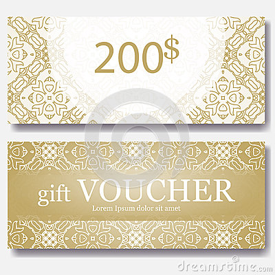 Gift Voucher Template With Mandala Design Certificate For Sport – Fun Voucher Template