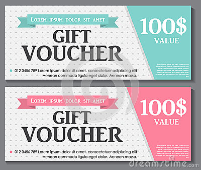 Gift Voucher Template With Sample Text Vector Vector Image – Sample Voucher Template