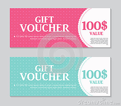 Gift Voucher Template With Sample Text Vector Vector Image – Sample Gift Vouchers