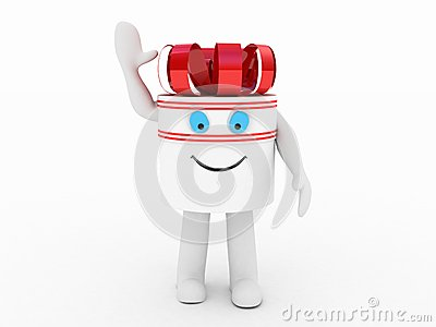 Gift  white box, 3D images