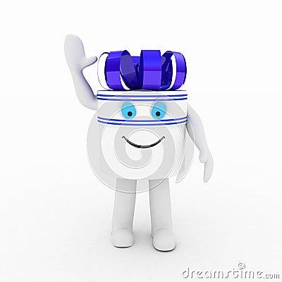 Gift  white box, 3D images