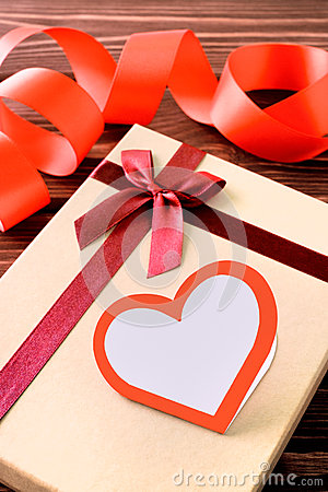 Free Gift With Heart And Ribbon Stock Photo - 83625680