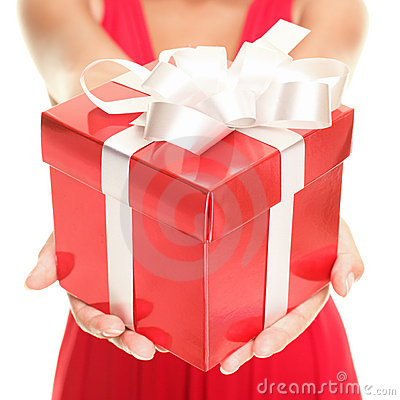 Free Gift Woman Royalty Free Stock Photo - 17187645